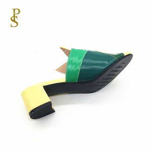 Image 5 - Mixed color PU shoes for women Fashionable and colorful female slippers for ladies