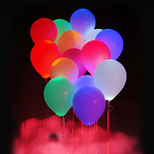 Colorful LED luminous latex balloon light fluorescent wedding party arrangement transparent balloons