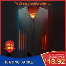 Мужчины женщины с подогревом жилет одежда USB с подогревом куртка зима электрический термобелье жилет на открытом воздухе бизнес одежда с подогревом жилет