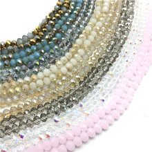 2mm 4mm 6mm 8mm Crystal Rondel Beads Wheel Faceted Glass Beads for Jewelry Making Diy Jewelry Accessories Jewelry Findings cheap BOHOEVER Other Oval Shape