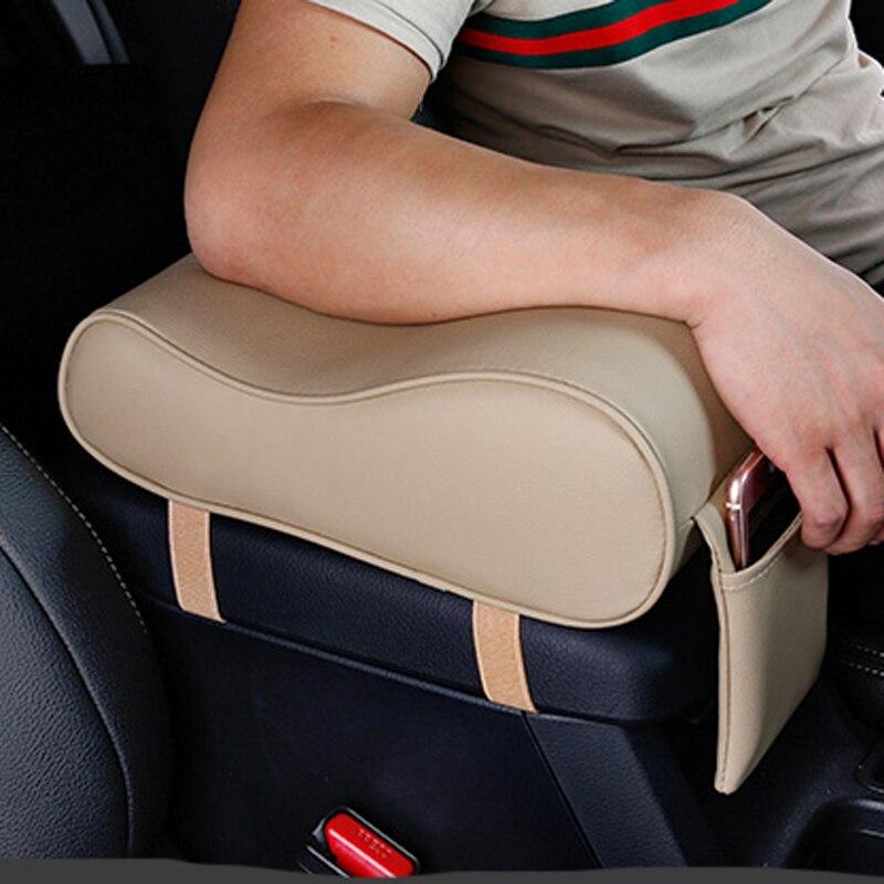2019 cuero Artificial coche apoyabrazos cojín/cojín para Toyota Camry Corolla RAV4 Yaris Highlander/Land Cruiser/PRADO Vios Vitz/Reiz