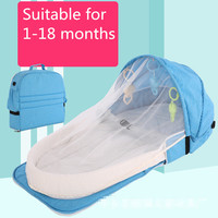 Baby Travel Portable Mobile Crib Baby Nest Cot Newborn Multi function Folding Bed Child Foldable Chair With Toys Mosquito Net