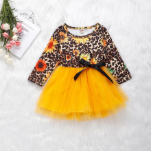 цена на Cute Baby Girl Dress Spring Long Sleeve Princess Party Tulle Flower Dresses Toddler Kids Girls Mesh Tutu Dress 1-4 Years