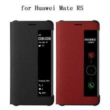 יוקרה מקרה עבור Huawei Mate RS עסקים Flip צפה עיצוב טלפון מקרה עבור Huawei Mate rs אמיתי עור Fundas עור mate rs coque