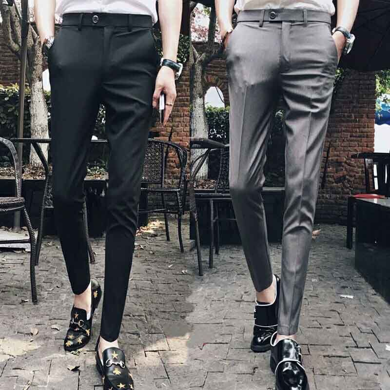 2020 Men's Pants Men's Korean Version Of Nine-minute Pants Trend Casual Pants Slim Slim Slim Leggings