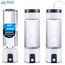 ALTHY H2 mini Idrogeno Generatore di Acqua Bottiglia Ricco SPE PEM Maker lonizer Elettrolisi Tazza Portatile USB Ricaricabile Anti Invecchiamento