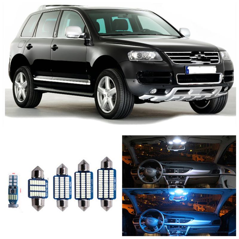 22 Uds., luces interiores para automóvil Canbus blancas, Kit de embalaje para Volkswagen VW Touareg 7L 7LA 7L6 7L7, Luces de lectura interiores led