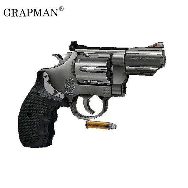1:1 M66 Revolver Paper Model Manual DIY 1