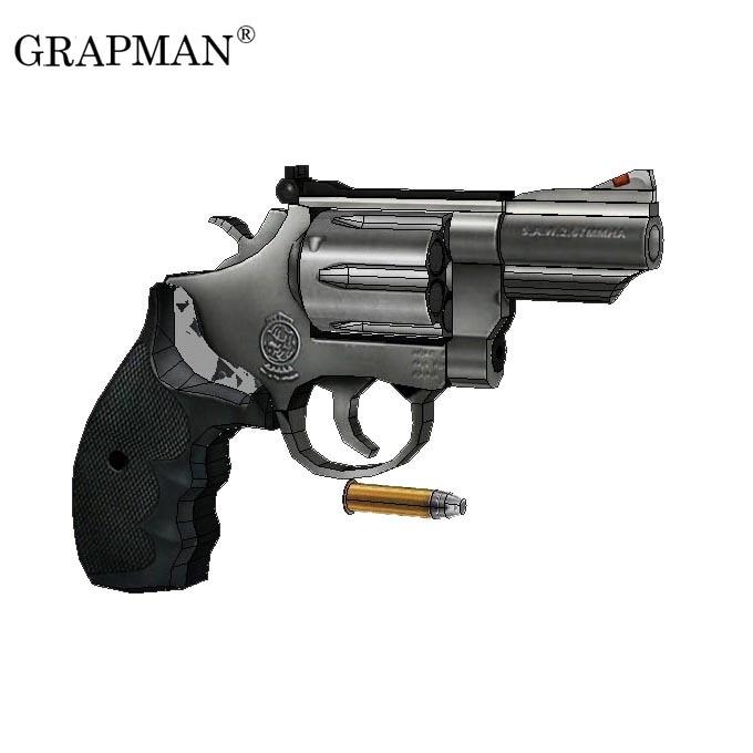 1:1 M66 Revolver Paper Model Manual DIY