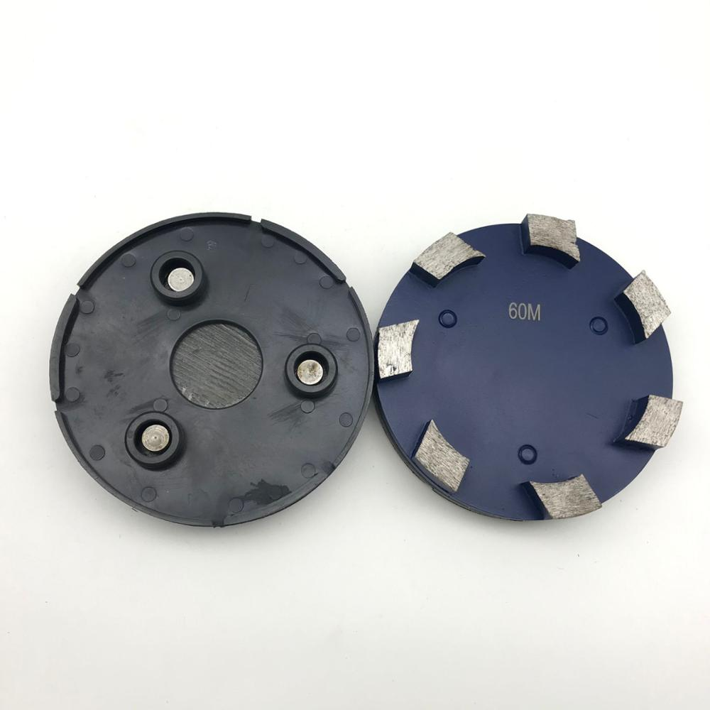 Metal Grinding Diamond scraper disc shoes With 3 Holes thin mil coating removal mastic removal for klindex grinder