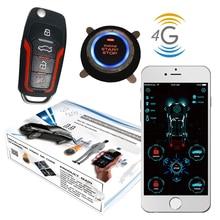 Cardot 4G Gps Smart Pke Keyless Entry Remote Starter Motor Start Stop Auto Alarm