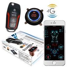 Cardot 4g gps akıllı Pke anahtarsız giriş uzaktan marş motoru Start Stop oto Alarm