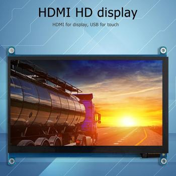 Durable HDMI Display Delicate Design For RPi 4B/3B+ 1024X600 HDMI 7 inch LCD Capacitive Touch Screen Display Monitor
