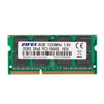 ZiFei Ram DDR3 2GB 4GB 8GB 1066MHz 1333MHz 1600MHz 204Pin SO-DIMM Moduł Pamięć Do Notebooka Do Laptopa