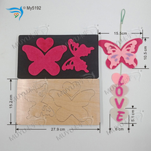 Butterfly Pendant wood moulds die cut accessories wooden Regola Acciaio Die Misura MY 5192