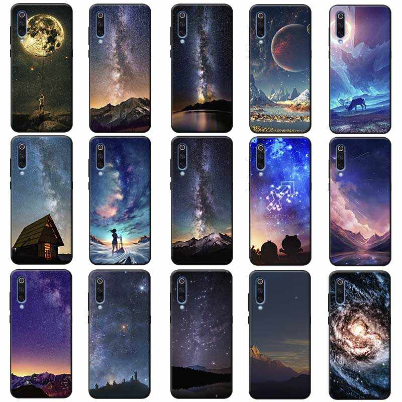 The sky Space Soft Silicone Phone Case for samsung galaxy a50  a70 a30 a40 a20 s8  s9 s10 plus