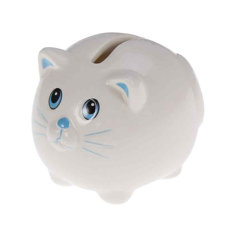 ミニ貯金箱貯金箱節約現金コインセラミック貯金箱猫セーフマネーコイン紙幣のための子供男の子女の子