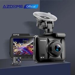 أزدوم داش كام GS63H 4K بنيت في غس سرعة إحداثيات واي فاي دفر سيارة بعدسة مزدوجة كاميرا داش كاميرا للرؤية الليلية داشكام 24H بارك