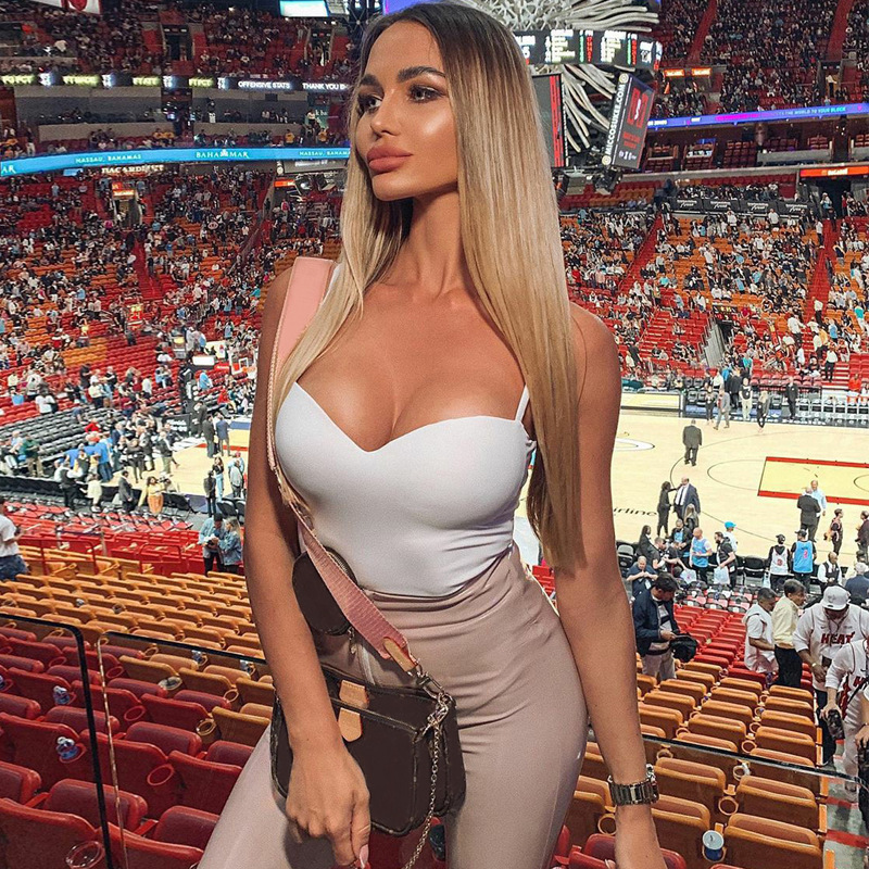 HAWTHAW sexy women summer clothes strapless soild color skinny fitness sportswear one piece bodysuit romper playsuit 2021