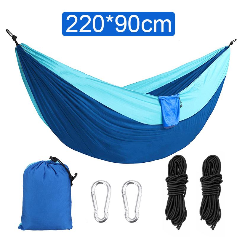 Nylon Double Person Hammock Adult Camping Outdoor Picnic Hiking Sleeping Bed