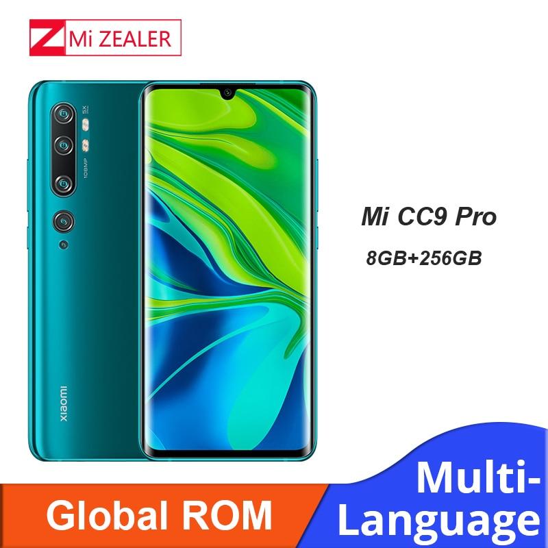 Global ROM Xiaomi Mi CC9 Pro (Note 10 Pro) Smartphone 8GB RAM+256GB ROM 108MP Penta Camera 5260 MAh Snapdragon730G Cellphone