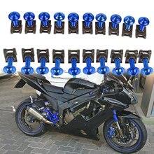 YAMAHA XJ6 MT 09 MT 07 FZ07 motosiklet vücut kaporta cıvataları 20 adet 6mm Spire hızlı Fastener klipler vida bahar bolots fındık