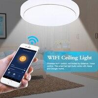 WiFi smart LED luz de techo AC85-265V 48W LED de techo lámpara regulable de lámparas de techo led control de voz de iluminación