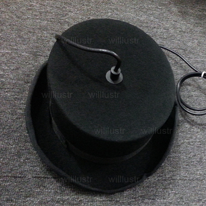 Image 5 - צמר הרגיש כובע תליון אור בעבודת יד אלומיניום השעיה מנורת ג יבס וווסטר כובע תליית תאורת מלון קוטור בד חנות