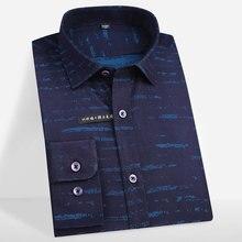 Smart Casual Shirt Bamboo-Fiber Business Long-Sleeved Printed Formal Men's New-Fashion