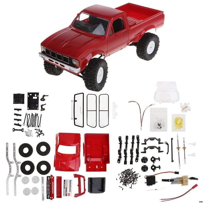 WPL C24 2,4G DIY Радиоуправляемый автомобиль комплект 4WD с дистанционным управлением гусеничный Внедорожник Багги движущаяся машина детские игру...