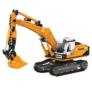 Image 3 - O offroad técnica xingbao novo 03038 construção escavadeira veículo conjunto blocos de construção tijolos brinquedos meninos figura presentes natal