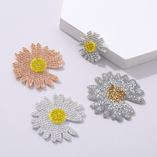 Clothing Damage-Patch Small Red Daisy Water-Drill Drawing Non-Woven Dimensional DIY Hot