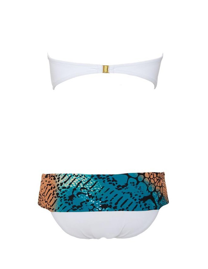 Mu Iraq 2018 Europe And America New Style Bikini Bathing Suit Women's Split Type White Blue Pants Polka Dot Swimwear 8053