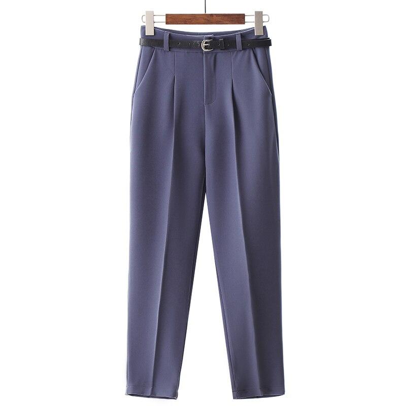 Spring Summer Women Trousers  High Waist Pants  Plus Size  Pencil  Loose Pants  Women Casual Work Elegant Ol White  Black Pants