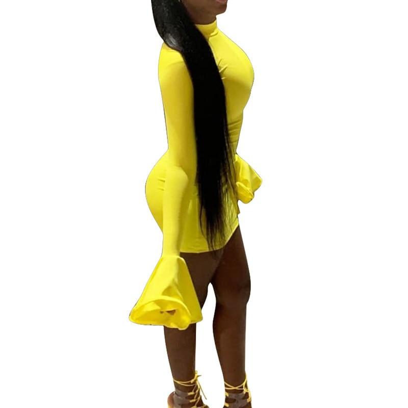 Yellow Micro Dress