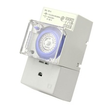 SUL181H Mechanical Timer 24 hours Time Switch Relay Electrical Programmable Timer 24 hour Din Rail Timer Switch