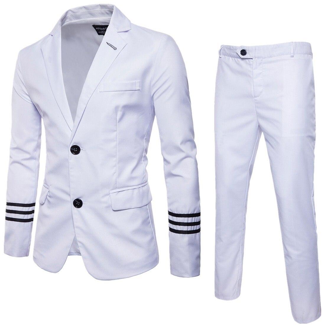 2017 Autumn Clothing Quality Business Leisure Suit Two-Piece Set Groom Best Man Wedding One-Button Suit Set Y909