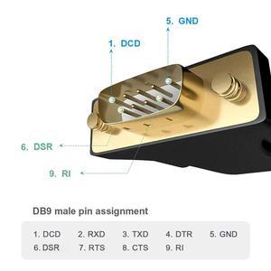 Image 2 - USBเพื่ออัพเกรดRs232 Serial Cableหญิงพอร์ตUSBอะแดปเตอร์USB 2.0 ถึงRS232 หญิงสายUSB COM rs232 Usb Converter