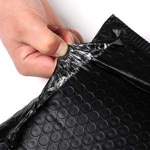 Image 4 - 50 adet toptan kabarcık zarflar çanta mat siyah postaları yastıklı nakliye zarf kabarcık posta çantası iş malzemeleri
