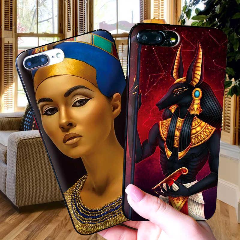 مصر نفرتيتي لينة TPU حالة ل أبل فون X XR XS ماكس 5 5S 5C SE 6 6 S 7 8 زائد بود تاتش 5 6 غطاء حافظة من السيليكون