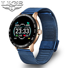 LIGE Fitness Smart Watch Waterproof Health Smart W