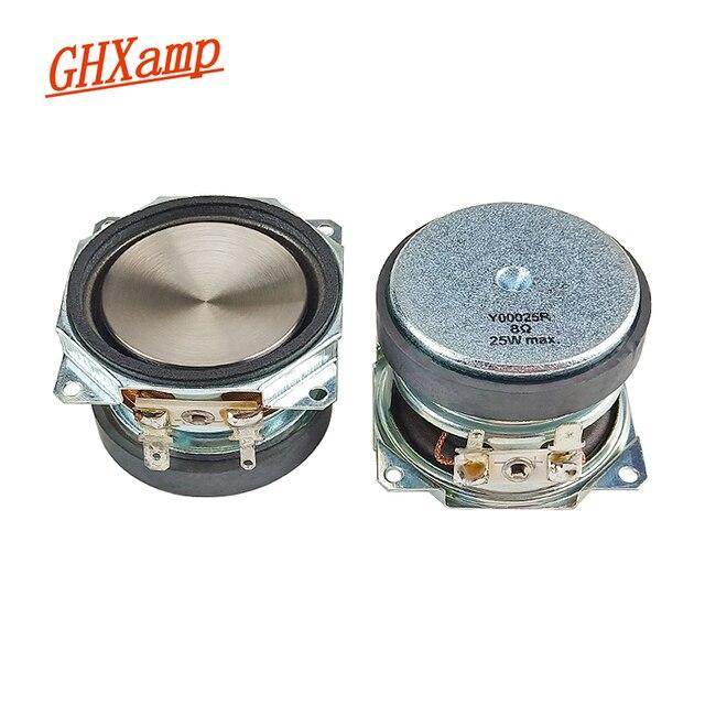 GHXAMP 2 Inch 51mm Speaker 8Ohm 25W Full Range Loudspeaker PP Metal Basin Built in For Full Frequency Audio Waterproof 2pcs
