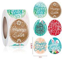 500 pçs feliz páscoa adesivos bonito coelho da páscoa ovo auto adesivo etiqueta para festa de páscoa crianças presentes saco caixa decoração tags
