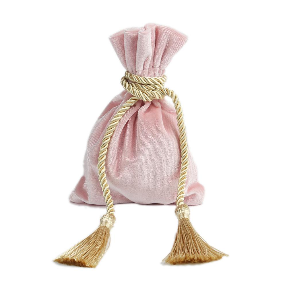 DoreenBeads Velvet Drawstring Bags Wedding Gift Bag Jewelry Valentine Gift Tassel Packaging Box DIY Craft 14.5 X 11cm 1Piece