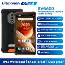 Blackview bv6600 ip68 impermeável 8580mah áspero smartphones telefones à prova de choque 4gb + 64gb 5.7