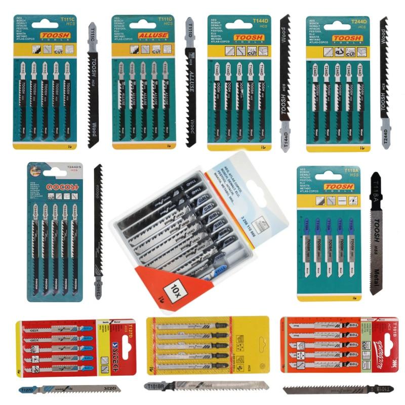 5PCS Jigsaw Blades Wood Cutter Saw Blade T111C T111D T144D T244D T344D T118A T127D T101B For Bosch Dewalt Hitachi Makita Festool