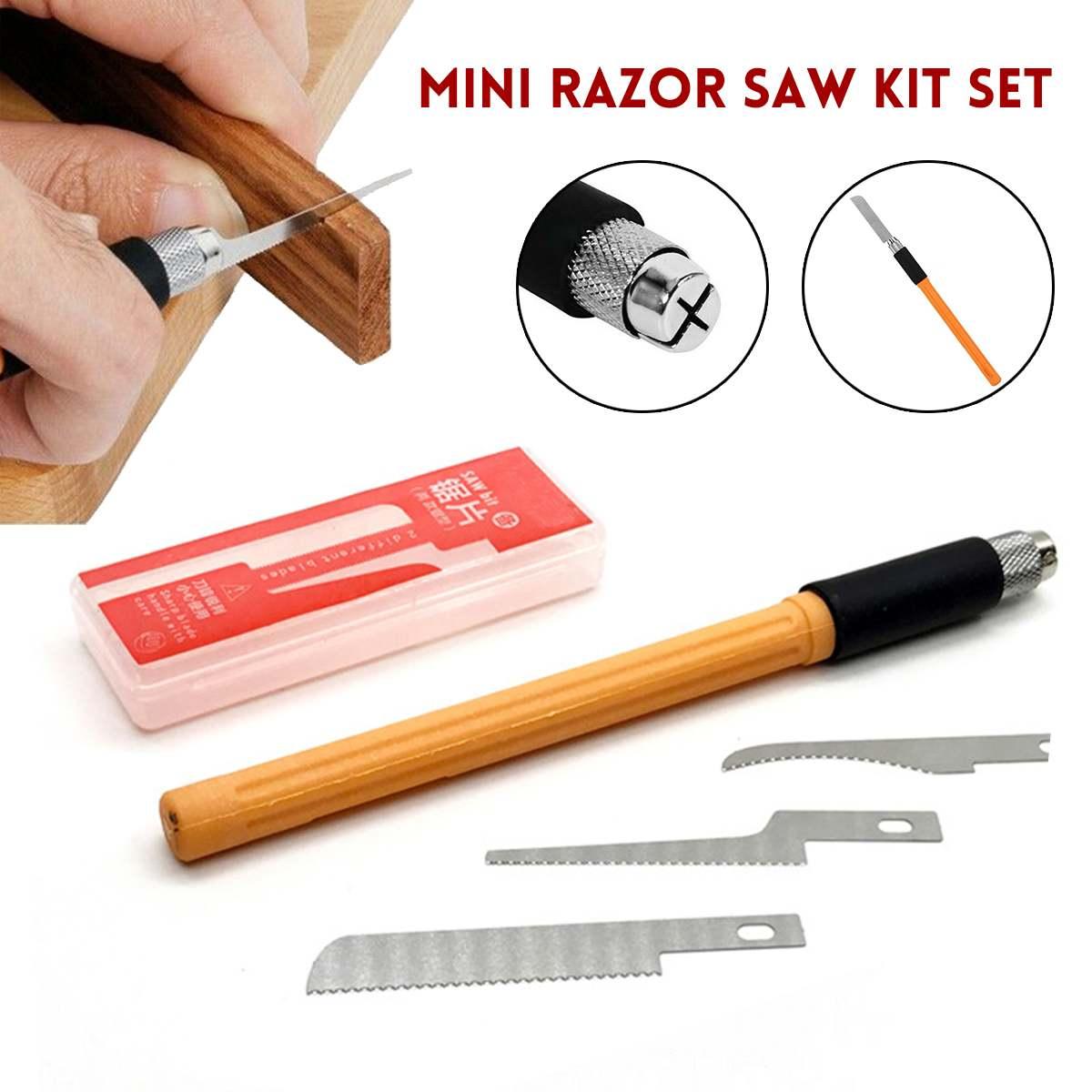 Mini Razor Saw Set Home DIY Handy Multifunction Craft Saw Blade Model Making Woodworking Handcraft Tools Dropshipping 2020