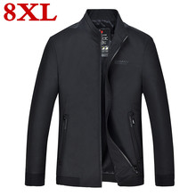 2019 new 8XL 7XL 6XL plus size high quality Casual Jackets autumn Standing collar Coat Men