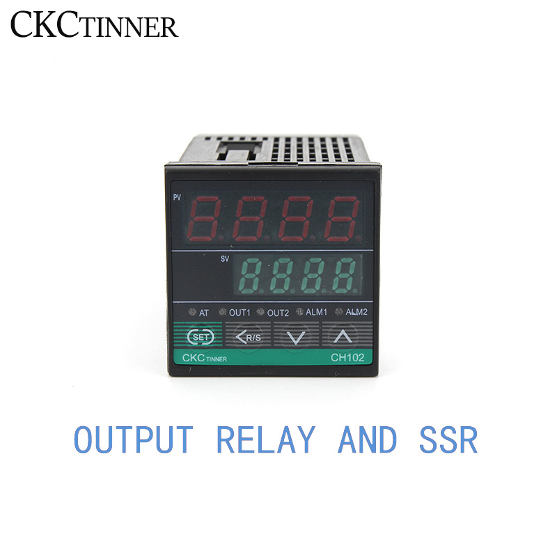 1PCS CH102 Dual Output SSR And Relay Two Relay Output LCD Digital PID Intelligent Temperature Controller