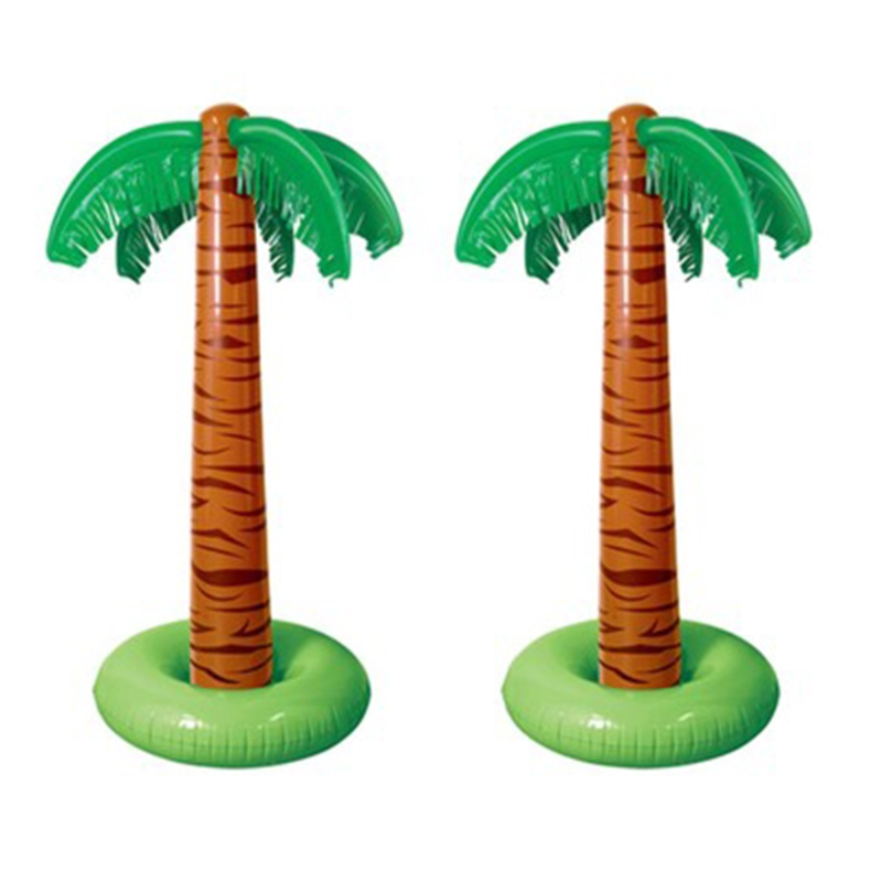 90cm Inflatable Tropical Palm Tree Pool Beach Party Decor Toy Outdoor Supplies Q6PD